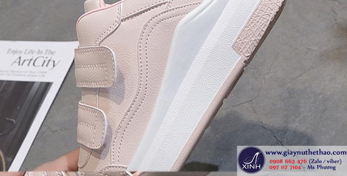Thể thao nữ độn đế màu hồng xinh xắn GTT6402
